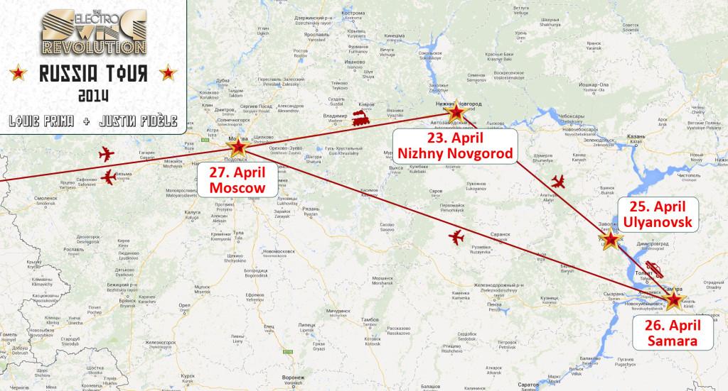 ESR-Russland Tourmap