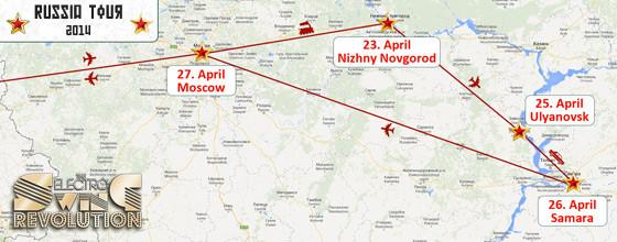 Russia Tour – April 23 – 27