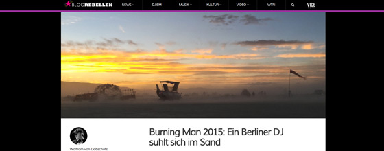 Burning Man Blog Article